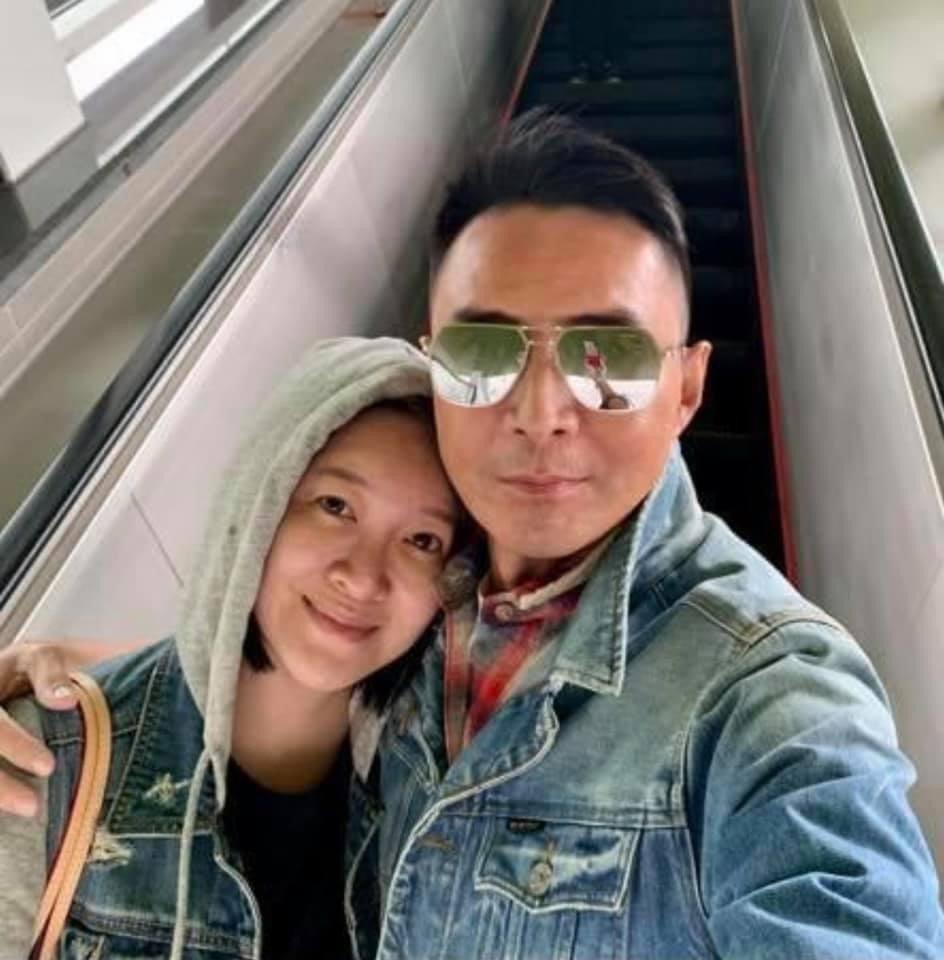 林利與妻子陳貞均婚後恩愛。圖/摘自臉書