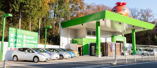 enephant公司門口,也是電動車的充電站,稱為「電氣車站」。 圖/eneph...