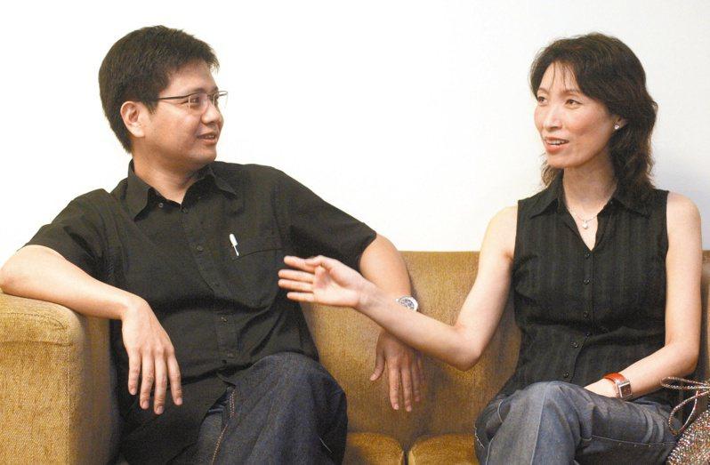 侯文詠與他「親愛的老婆」張雅麗。圖/皇冠文化提供、資料照片