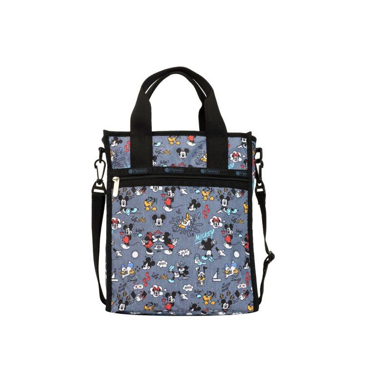 LeSportsac x Disney米奇嘉年華方型小托特包,5,250元。圖/...