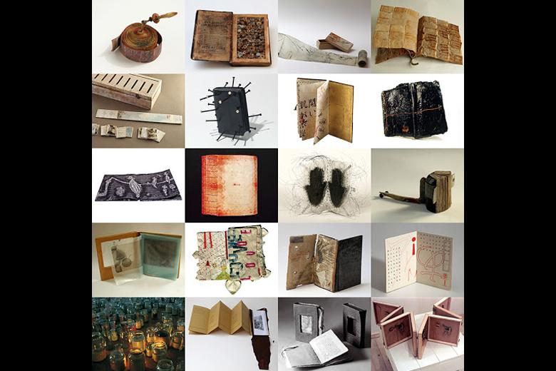 立陶宛「維爾紐斯國際藝術家書籍三年展」歷屆展出作品。 圖/藝術家書籍創作者(Artist's Book Creators)社群網站