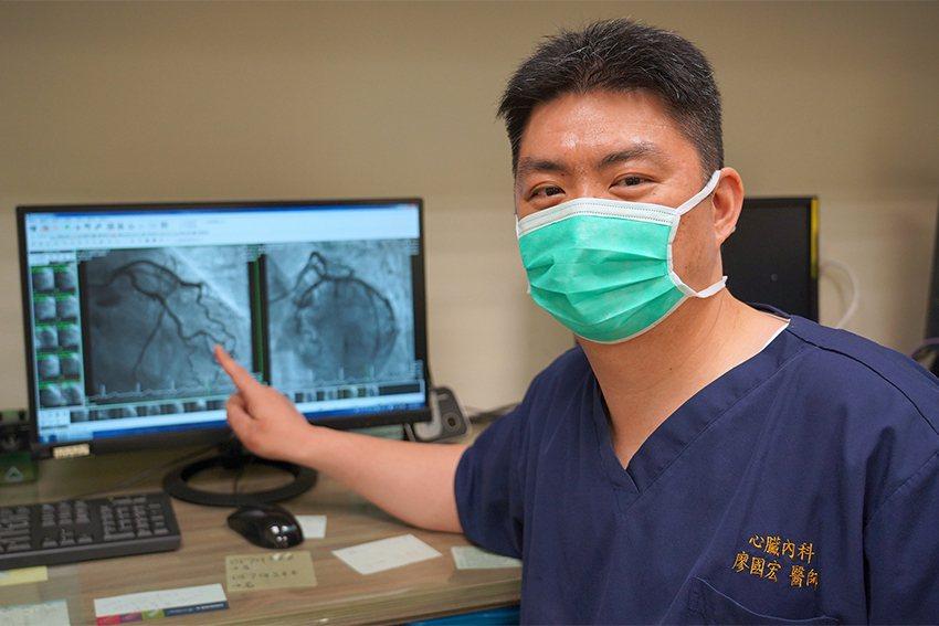聯新國際醫院心臟內科醫師廖國宏。 聯新國際醫院/提供