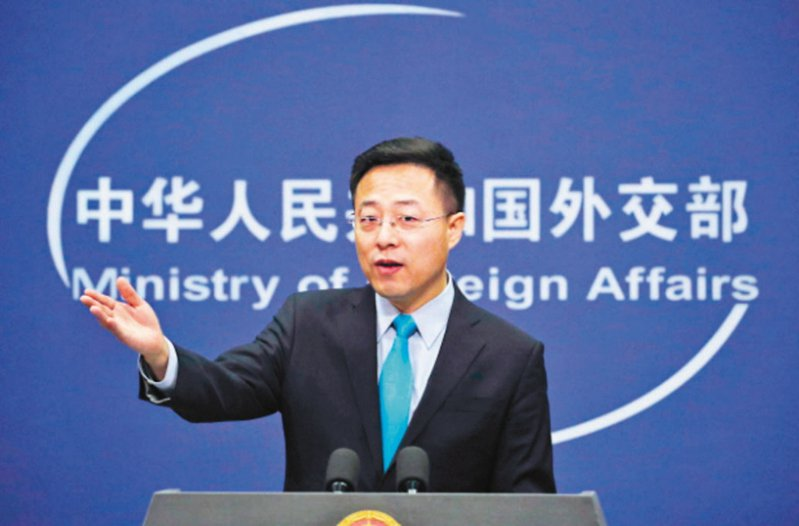 中國外交部發言人趙立堅。 美聯社資料照片