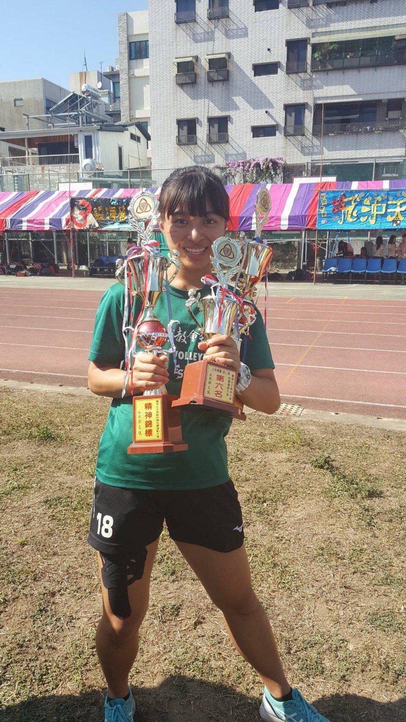 台南女中應屆畢業生朱恩萱是運動健將,錄取台北大學法律系。圖/朱恩萱提供