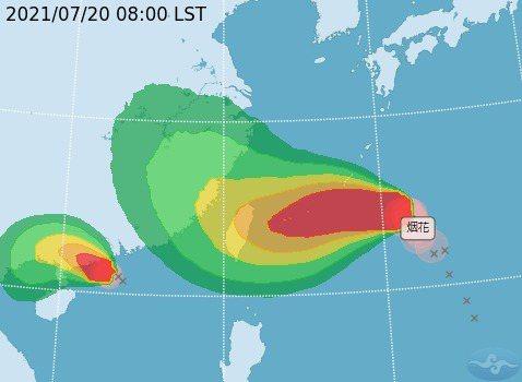 烟花颱風有侵台機率。圖/氣象局