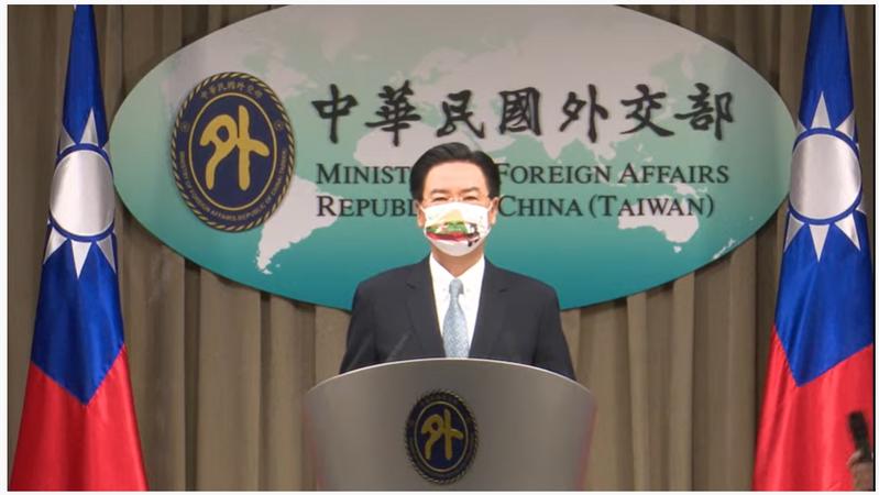 外交部長吳釗燮宣布,我國將在立陶宛設立代表處。圖/擷取自外交部記者會直播網站