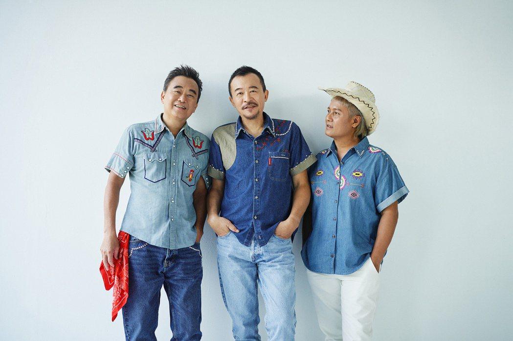 陳昇(左)、黃連煜、阿Van的表演工作都因疫情停擺。圖/新樂園製作有限公司提供
