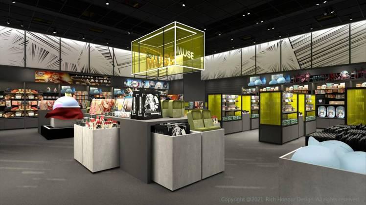 ATT e Life一樓規劃為「新娛樂動漫特區」,囊括12個IP產業品牌。圖/A...