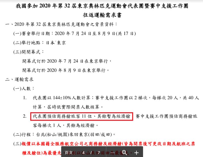 時代力量立委邱顯智今在臉書秀出中華奧會在2019年的招標公告。圖/取自邱顯智臉書