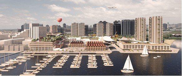 安平港水岸複合觀光區規劃模擬。台灣港務公司/提供