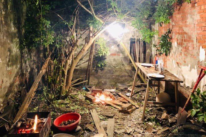 改造成餐廳前的廢棄老屋,有機會來看看改造後的樣子。 圖/幸福果食 提供