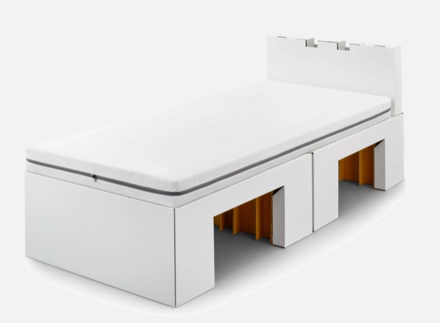 床墊不僅能回收,還能夠依照運動員每個人需求,進行軟易度的訂製。圖/Airweav...