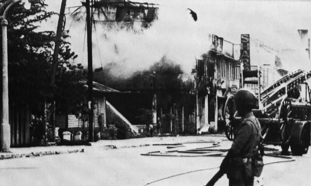 圖為發生「513事件後」的吉隆坡現場。  圖/美聯社