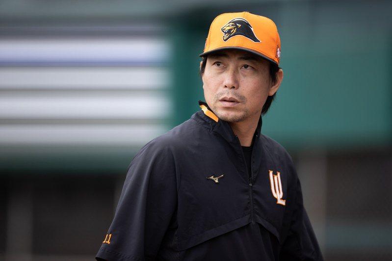 獅隊總教練林岳平透露秘密武器「我們有一個練習生,本身就是下勾投手」。聯合報系資料照片/記者季相儒攝影