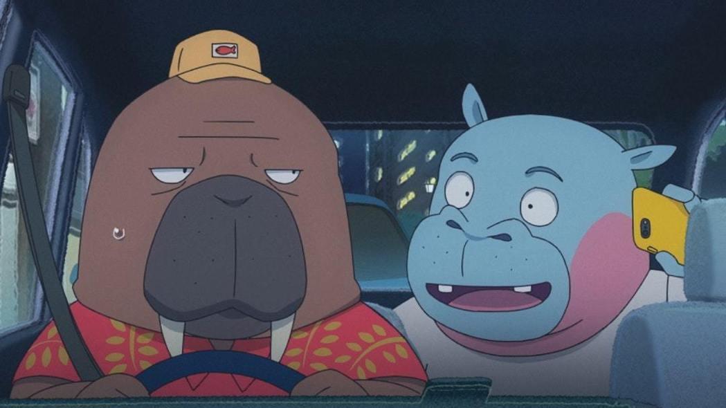主角小戶川是一位41歲的海象大叔,性格古怪孤僻,也是一名計程車司機。 圖/曼迪傳...