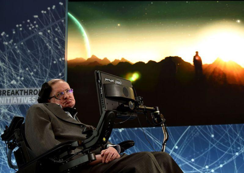 英國知名物理學家霍金2018年3月與世長辭,享壽76歲。法新社(圖/聯合報系新聞資料庫照片)