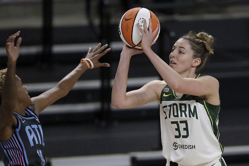 女子職籃WNBA球星塞繆爾森因確診無法參與奧運。 美聯社