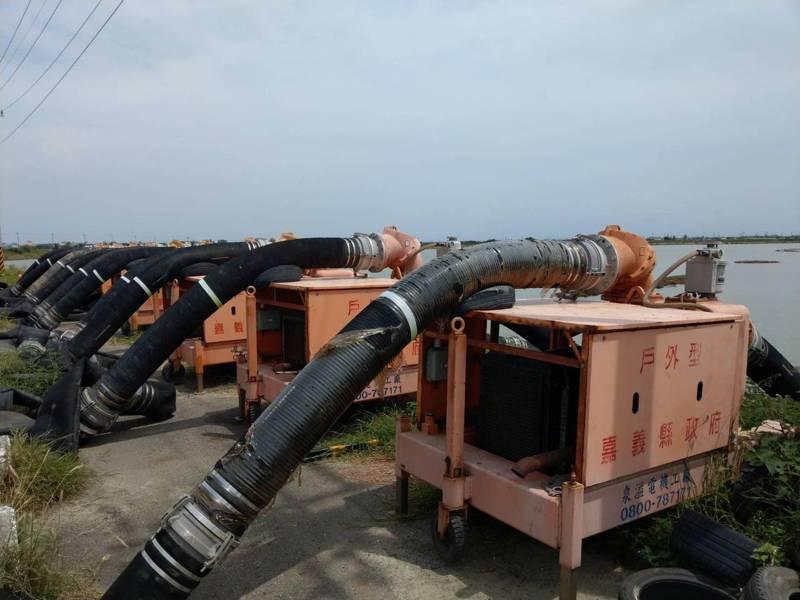 因應烟花颱風逼近,可能撲台登陸帶來的風雨災情,水利署第五河川局強化防颱應變整備。圖/五河局提供