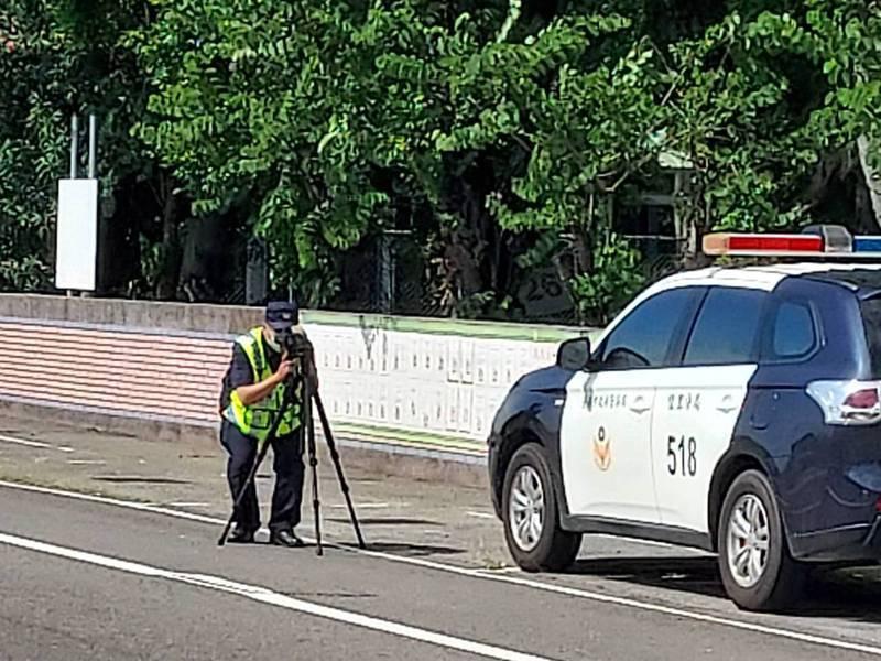 台南佳里警分局在轄區25個路段加強測速拍照。記者吳淑玲/翻攝