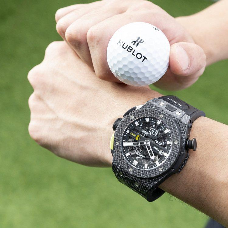 Big Bang Unico Golf王者黑高爾夫腕表,45毫米鍍鋁碳纖維表殼、...