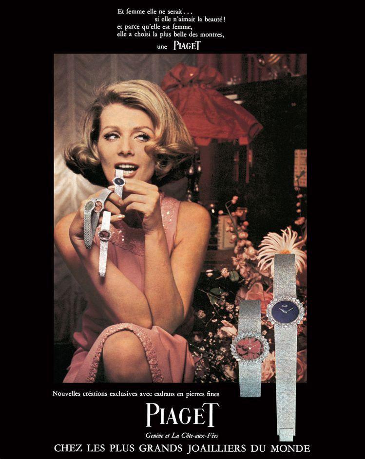 1967年的伯爵骨董畫報,展現當年的珠寶金工甚至是髮型、時裝美學。圖 / 伯爵提...