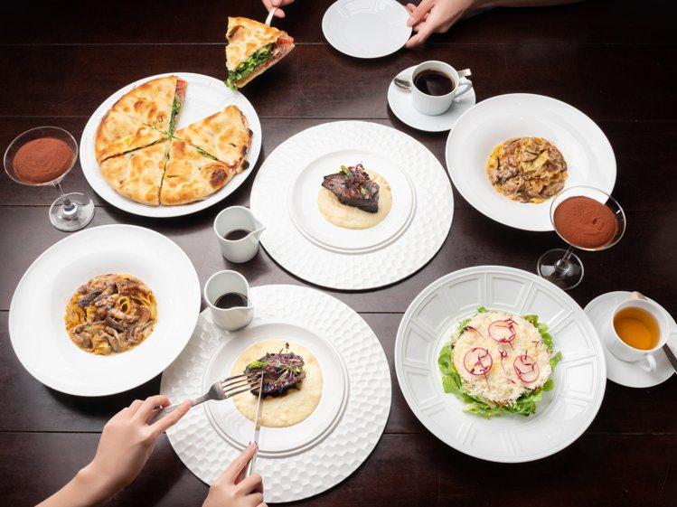 米其林餐盤推薦的Bencotto義大利餐廳精選雙人套餐,包含慢燉澳洲和牛牛頰、手...