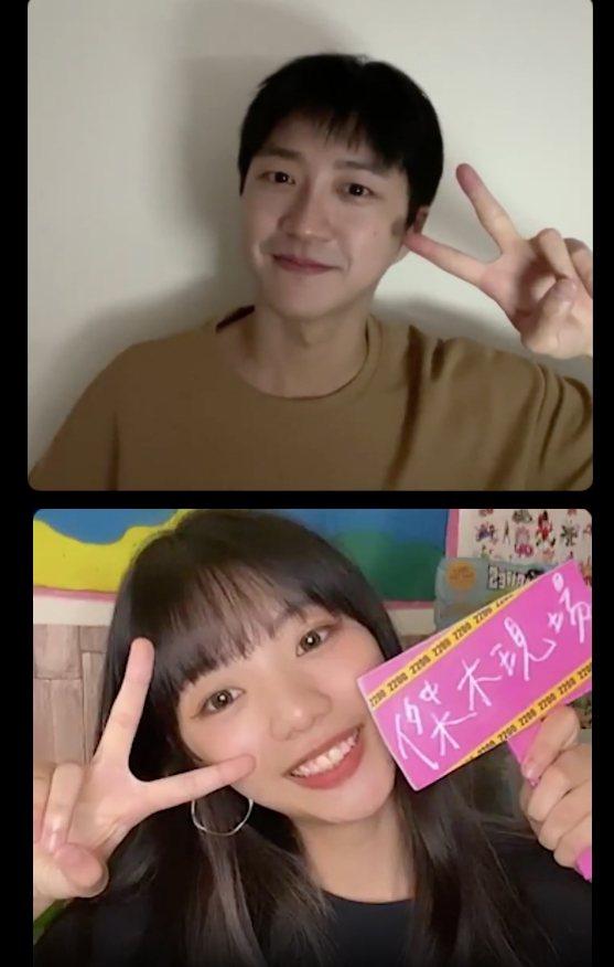 江宏傑(上)與師妹木木聯手主持直播節目「2200傑木現場」。圖/華研國際提供