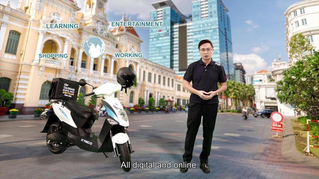 2021線上越南台灣形象展今(21)日於線上展開,貿協董事長黃志芳,這是疫情下經...