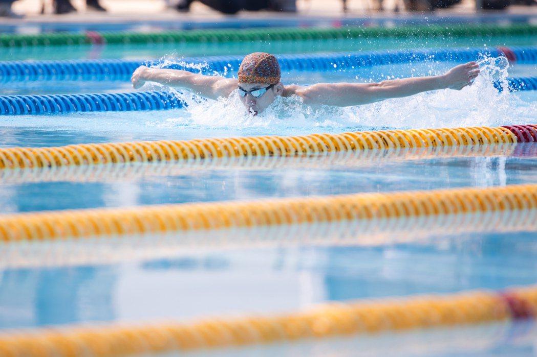 游泳代表隊選手「蝶王」王冠閎。  圖/季相儒攝影