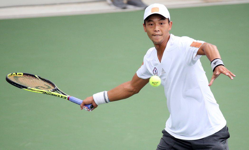八月份將滿37歲的網球好手盧彥勳,是此次中華隊引以為傲的精神指標。 圖/趙文彬攝...