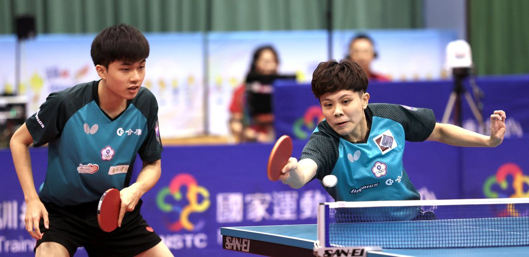 林昀儒與鄭怡靜為當今桌球混雙世界排名第一,被寄予奪牌厚望。 圖/國訓中心提供