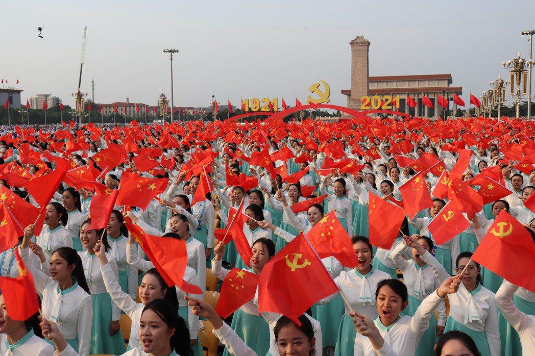 圖為今年7月1日中共黨慶。 圖/聯合報系