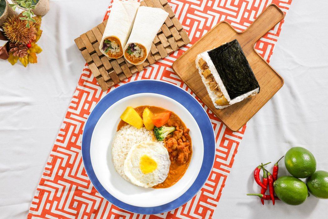 全家攜手星馬料理餐廳「MAMAK檔」,將經典南洋風味以便利商店經典鮮食的風貌呈現...
