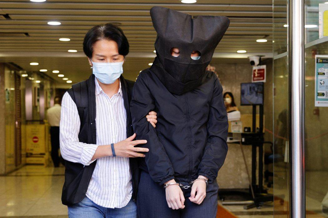 遭到逮捕的香港言語治療師總工會成員。 圖/路透社