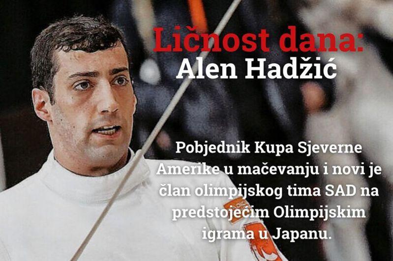 美國選手哈季奇被禁止入選手村。 擷圖自IG