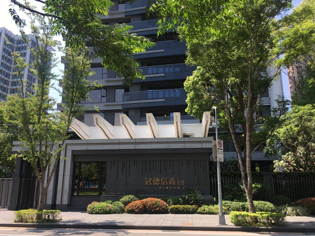 「冠德信義」6月9樓成交3.4億元,買方無貸款購入。(圖/台灣房屋提供)
