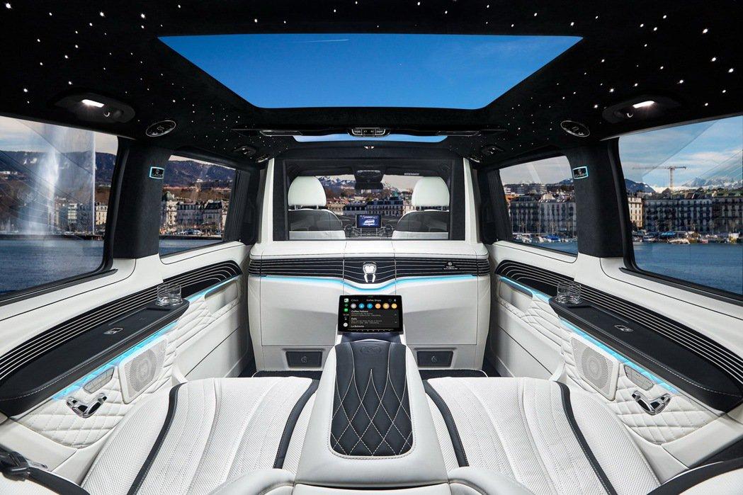 德國名廠KALSSEN是打造商務型休旅車內裝配備的翹楚,特別是針對賓士V-Cla...