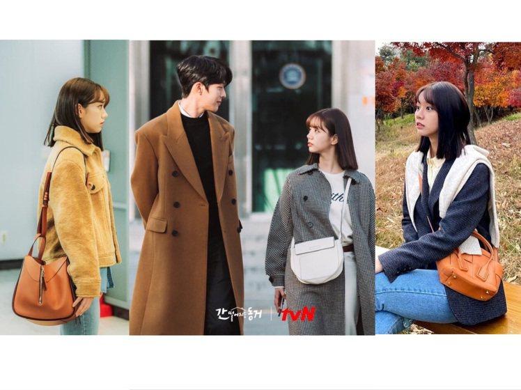 惠利在《我的室友是九尾狐》中,以黑白、咖啡色系的包款搭配為主。圖/取自tvN D...