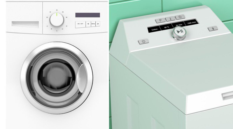滾筒式(左)與水槽式洗衣機的原理不同,擅長處理的衣物也不相同。圖片來源/ingimage