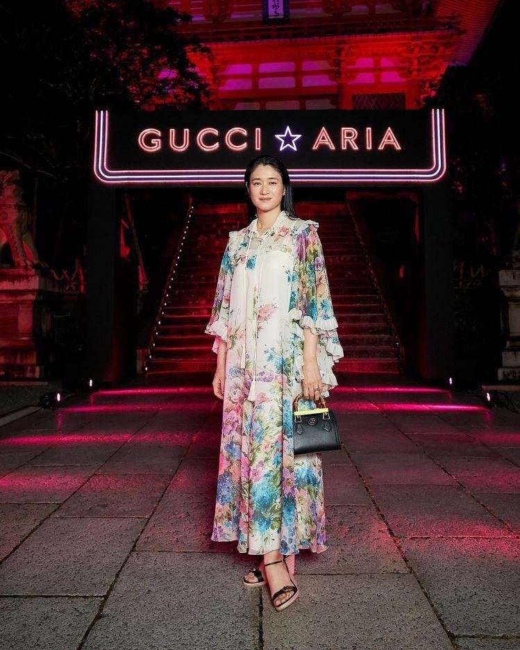 女星小雪久未露面,在京都清水寺共襄盛舉GUCCI百年慶賀活動。圖/取自IG