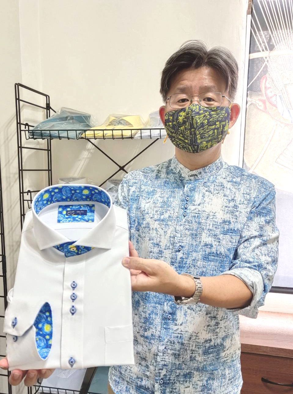 總經理蔡介欽的目標是要將「衣十五」襯衫打造成為台灣第一商務襯衫品牌。 楊鎮州/攝...