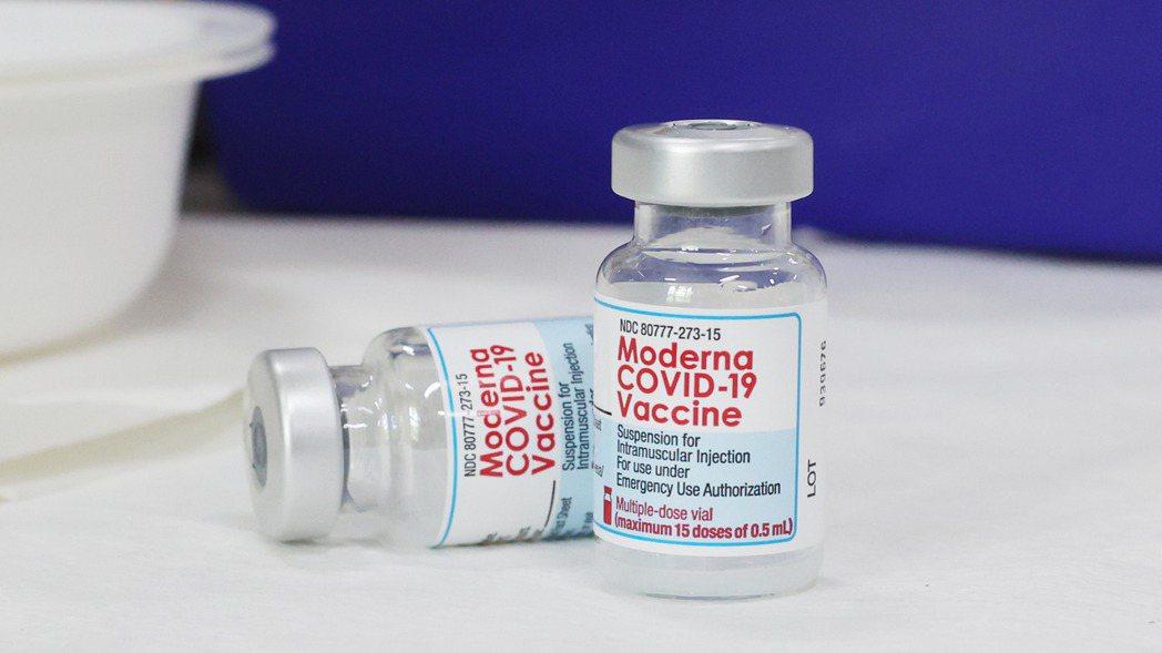 莫德納疫苗。記者許正宏/攝影