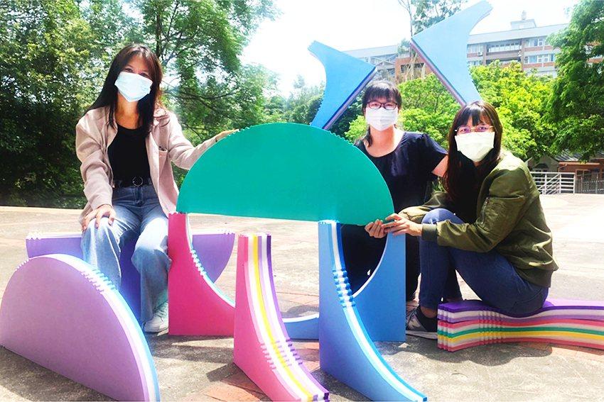 中華大學以「CAKE-兒童室內遊具」獲金牌殊榮。 中華大學/提供