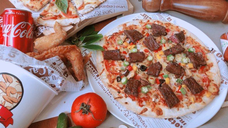 應援歡樂炸雞Pizza分享餐。 業者/提供