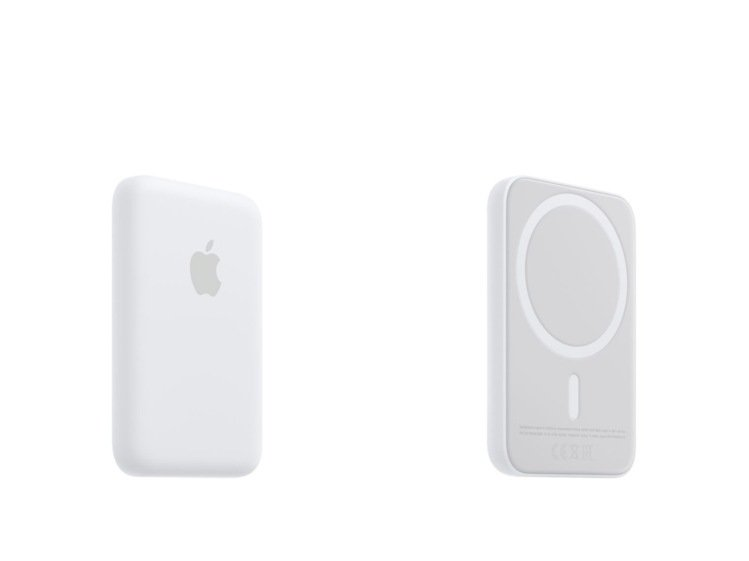 MagSafe外接式電池的設計可直接連接iPhone,或透過MagSafe保護殼...