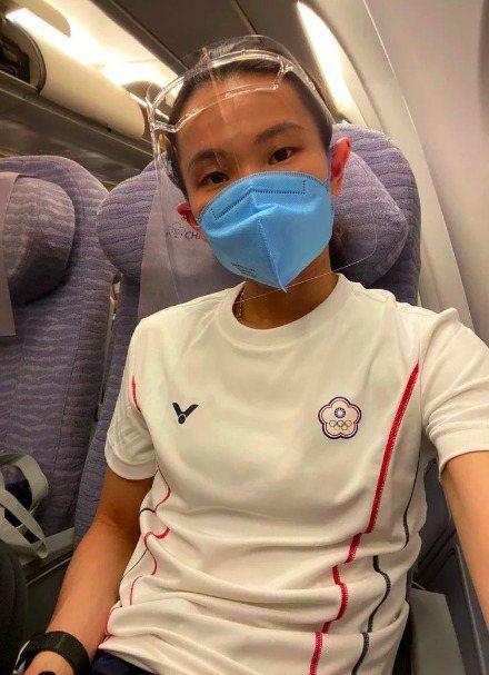 中華代表團選手戴資穎前往東京奧運參賽,揭露選手坐經濟艙。圖/取自戴資穎IG