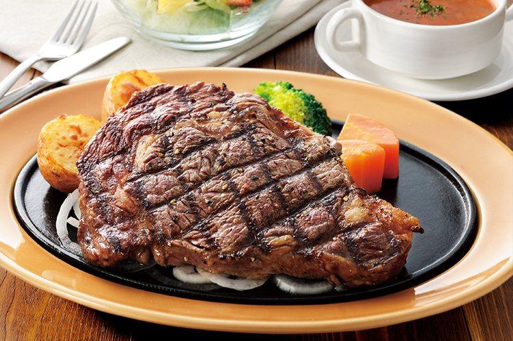 沙朗牛排。圖/樂雅樂提供