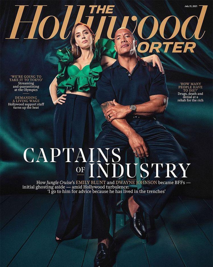 身為職業運動員、電影明星的巨石強森,近日為宣傳新片登上雜誌封面,同時也配戴一只I...