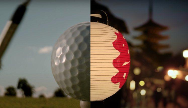 高爾夫球跟燈籠借形體的挪移錯置,在影像中得以窺見OMEGA的用心之處。圖 / 翻...
