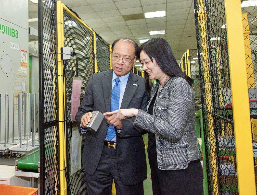 卓秀瑜(右)是卓永財(左)的小女兒,父女之間互動非常有默契。大銀微系統提供